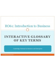 R061 Introduction to Business Glossary