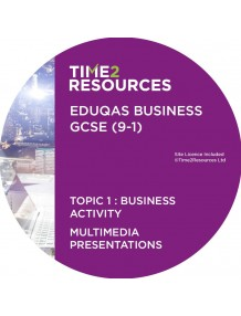 GCSE (9-1) WJEC Eduqas Business Multimedia Presentations Topic 1: Business activity