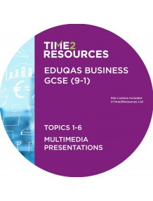 GCSE (9-1) WJEC Eduqas Business Multimedia Presentations Topics 1-6