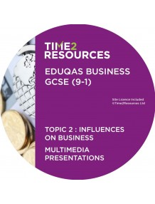 GCSE (9-1) WJEC Eduqas Business Multimedia Presentations Topic 2: Influences on business