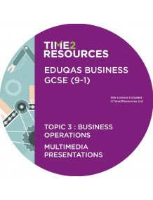GCSE (9-1) WJEC Eduqas Business Multimedia Presentations Topic 3: Business operations