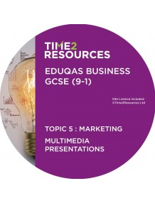 GCSE (9-1) WJEC Eduqas Business Multimedia Presentations Topic 5: Marketing