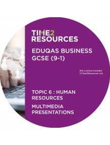 GCSE (9-1) WJEC Eduqas Business Multimedia Presentations Topic 6: Human resources