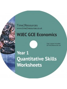 WJEC/Eduqas GCE Economics Year 1 Quantitative Skills Worksheets CD & printed