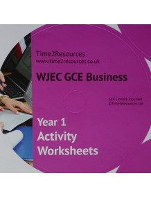 WJEC/Eduqas GCE Business Year 1 Activity Worksheets CD only