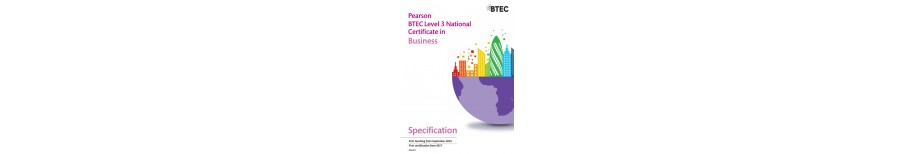 Pearson BTEC Level 3 National Certificate in Business