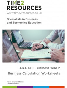 AQA GCE Business Year 2 Calculation Worksheets CD & printed