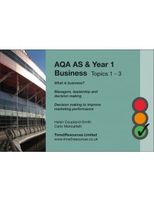 AQA GCE Business Revision Guides (10)  Topics 1-3
