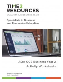 AQA GCE Business Year 2 Activity Worksheets CD & printed